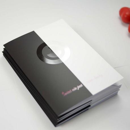 Teczki ofertowe A4 folia mat + lakier UV 100 szt.