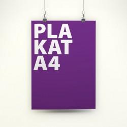 Plakat A4 / 4+0  jednostronny / 100 szt