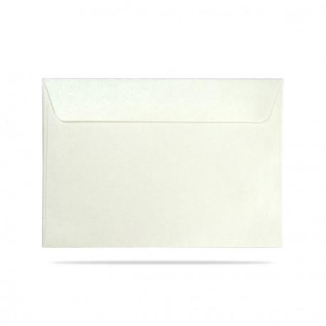 Koperta ozdobna C6 biała perłowa