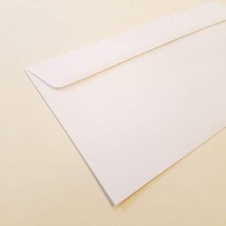 Koperta ozdobna DL biała matowa