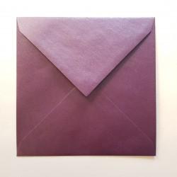 Koperta ozdobna 170x170 rubinowa perłowa