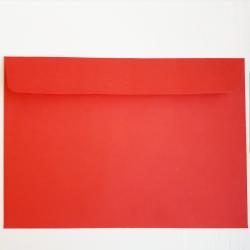 Koperta ozdobna C6 czerwona matowa