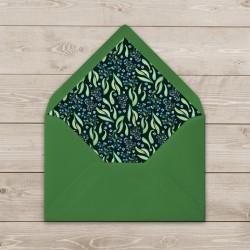 Ozdobna koperta zielona C6 z wkładką