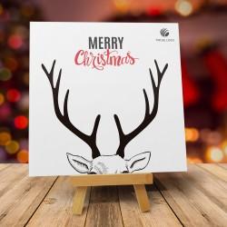 Firmowa kartka świąteczna ROGI RUDOLFA ANG z logiem
