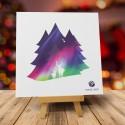 Firmowa kartka świąteczna ZORZA POLARNA z logiem