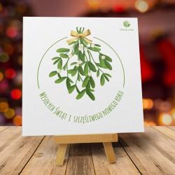 Firmowa kartka świąteczna ŚWIĄTECZNA JEMIOŁA PL z logiem