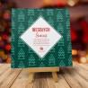 Firmowa kartka świąteczna Świąteczny klimat - zielona z logiem