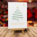Kartka świąteczna ZŁOTA GWIAZDKA dla firm z logiem