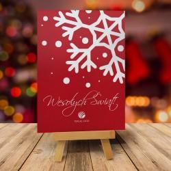 Firmowa kartka świąteczna PŁATEK z logiem