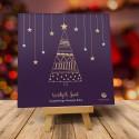 Firmowa kartka świąteczna Gwiazdkowa Jodełka z logiem