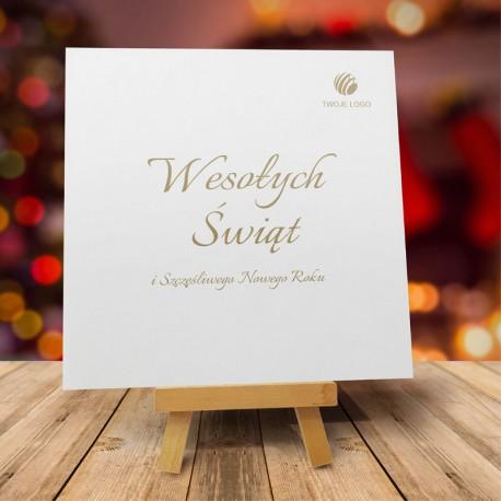 firmowa kartka świąteczna GWIAZDKI Z NIEBA z logiem / min. 10 szt