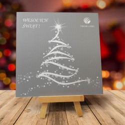 Firmowa kartka świąteczna CHOINKA z logiem