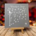 Firmowa kartka świąteczna LATARNIA Z PŁATKAMI ŚNIEGU z logiem