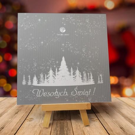 Firmowa kartka świąteczna LAS CHOINEK z logiem