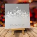 Firmowa kartka świąteczna ŚNIEŻYNKA z logiem