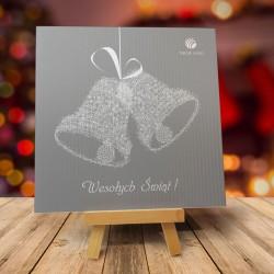 Firmowa kartka świąteczna DZWONECZKI z logiem