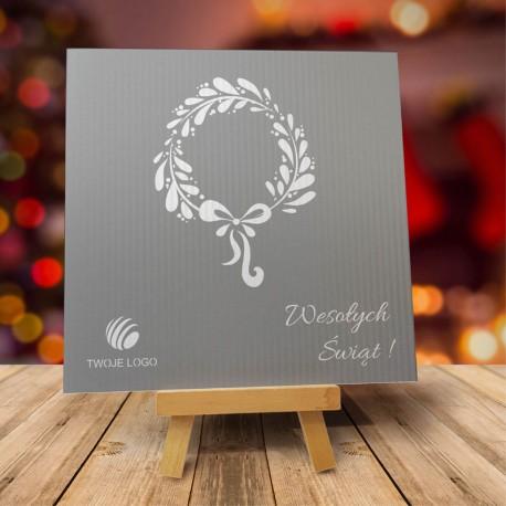 Firmowa kartka świąteczna GIRLANDA z logiem