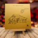 firmowa kartka świąteczna ZŁOTA BETLEJEMKA z logiem / min. 10 szt