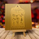 Firmowa kartka świąteczna WIELKA ZŁOTA NIESPODZIANKA z logiem