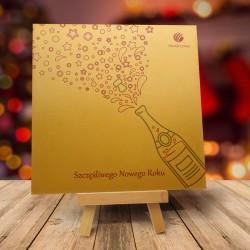 firmowa kartka świąteczna SZAMPAŃSKA ZABAWA z logiem / min. 10 szt