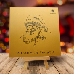 Firmowa kartka świąteczna ZŁOTY MIKOŁAJ z logiem