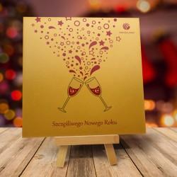 firmowa kartka świąteczna LAMPKA WDZIĘCZNOŚCI z logiem / min. 10 szt