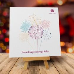 firmowa kartka świąteczna FAJERWERKA z logiem / min. 10 szt