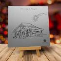 firmowa kartka świąteczna SREBRNA BETLEJEMKA z logiem / min. 10 szt