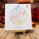 Firmowa kartka świąteczna FANTAZYJNA BOMBKA z logiem