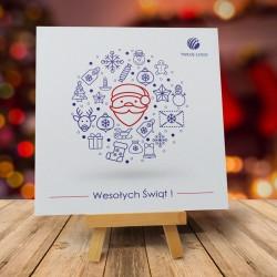 firmowa kartka świąteczna IKONKA z logiem / min. 10 szt