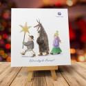firmowa kartka świąteczna KOLĘDNICZKA z logiem / min. 10 szt