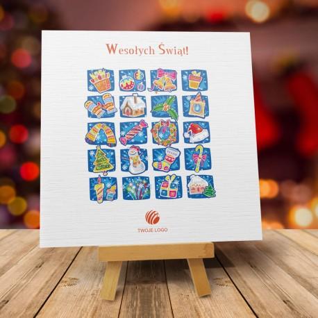 firmowa kartka świąteczna CUDEŃKA z logiem / min. 10 szt