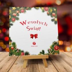 firmowa kartka świąteczna OZDÓBKA z logiem / min. 10 szt