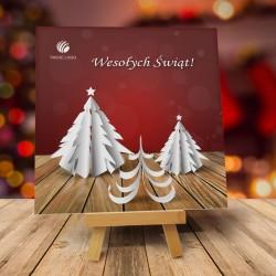 firmowa kartka świąteczna WYCINANKA z logiem / min. 10 szt