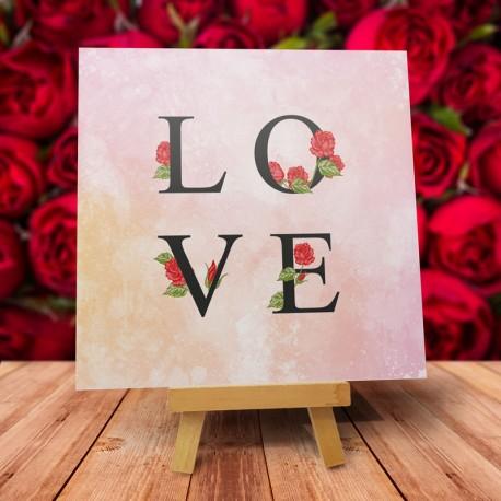 """Kartka na walentynki wzór - """"Kolorowe Love"""" - 1szt"""