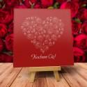 """Kartki Walentynkowe wzór """"Różana miłość"""" - 1 szt"""