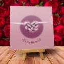 """Kartka na Walentynki wzór """"Miłosny węzeł"""" - 1 szt"""