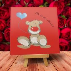 """Kartka Walentynkowa wzór """"Misiek"""" - 1 szt"""