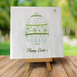 "Kartka Wielkanocna ""Zielona pisanka"""