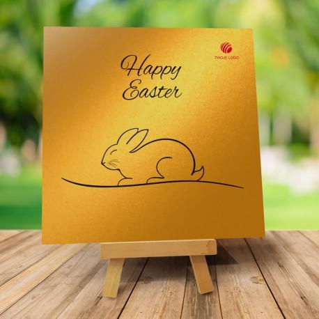 """Kartka """"Złoty króliczek"""" + Firmowe życzenia Wielkanocne"""