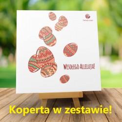 Kartki Wielkanocne dla firm Deszcz pisanek + Koperta w zestawie