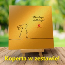 Kartka na Wielkanoc dla firm Króliczek + Koperta w zestawie