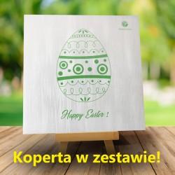 Kartka Wielkanocna Zielona pisanka + Koperta w zestawie