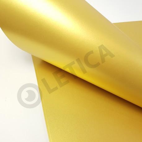 Papier ozdobny Złoto A4 125g / 8 arkuszy w kpl.