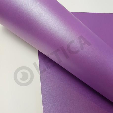 Papier ozdobny Śliwkowy Metalik A4 120g / 8 arkuszy w kpl.
