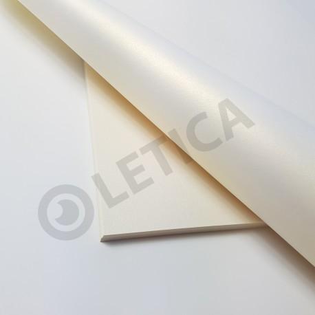 Papier ozdobny Szampański A4 300g / 8 arkuszy w kpl.