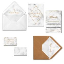 Zaproszenia na chrzest Elegancja