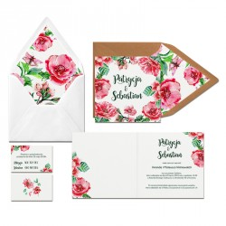 Zaproszenia ślubne Dzikie Róże