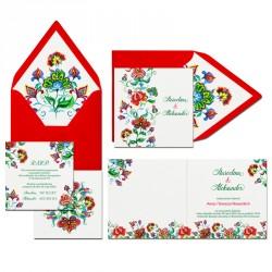 Zaproszenia ślubne Słowiański Deseń