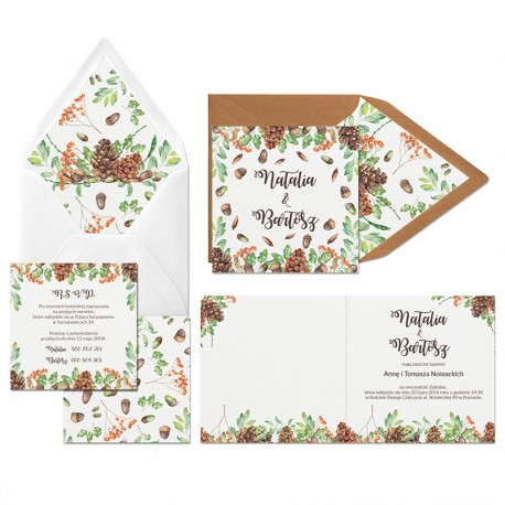 Zaproszenia ślubne Leśne